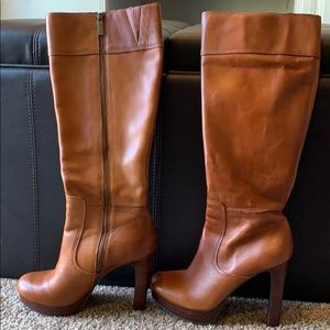Gianni Bini Leather Lindsay Platform Boots